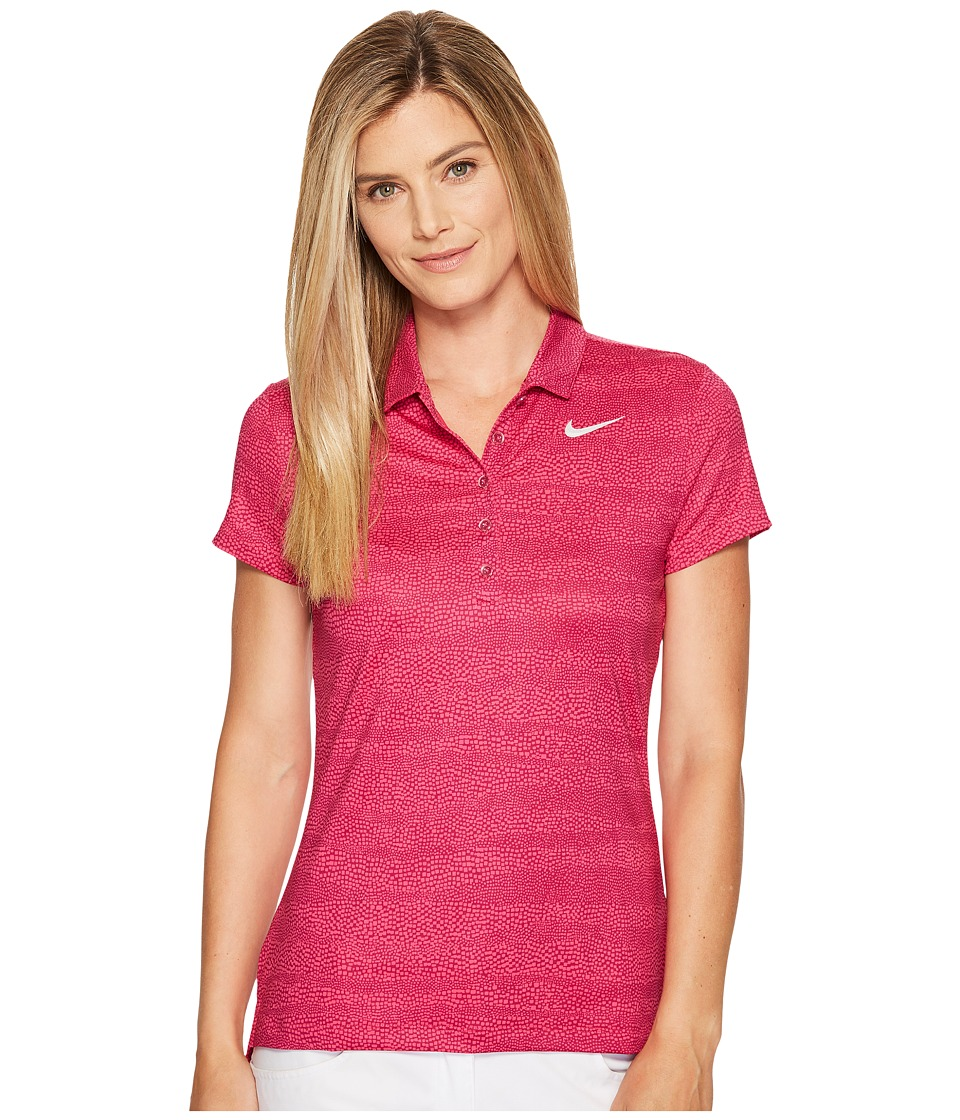 Nike Golf - Precision Zebra Print Polo (True Berry/Vivid ...