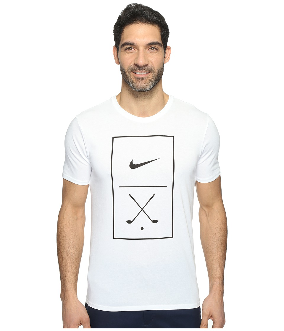 Nike Golf Graphic Tee (White/Black) Men