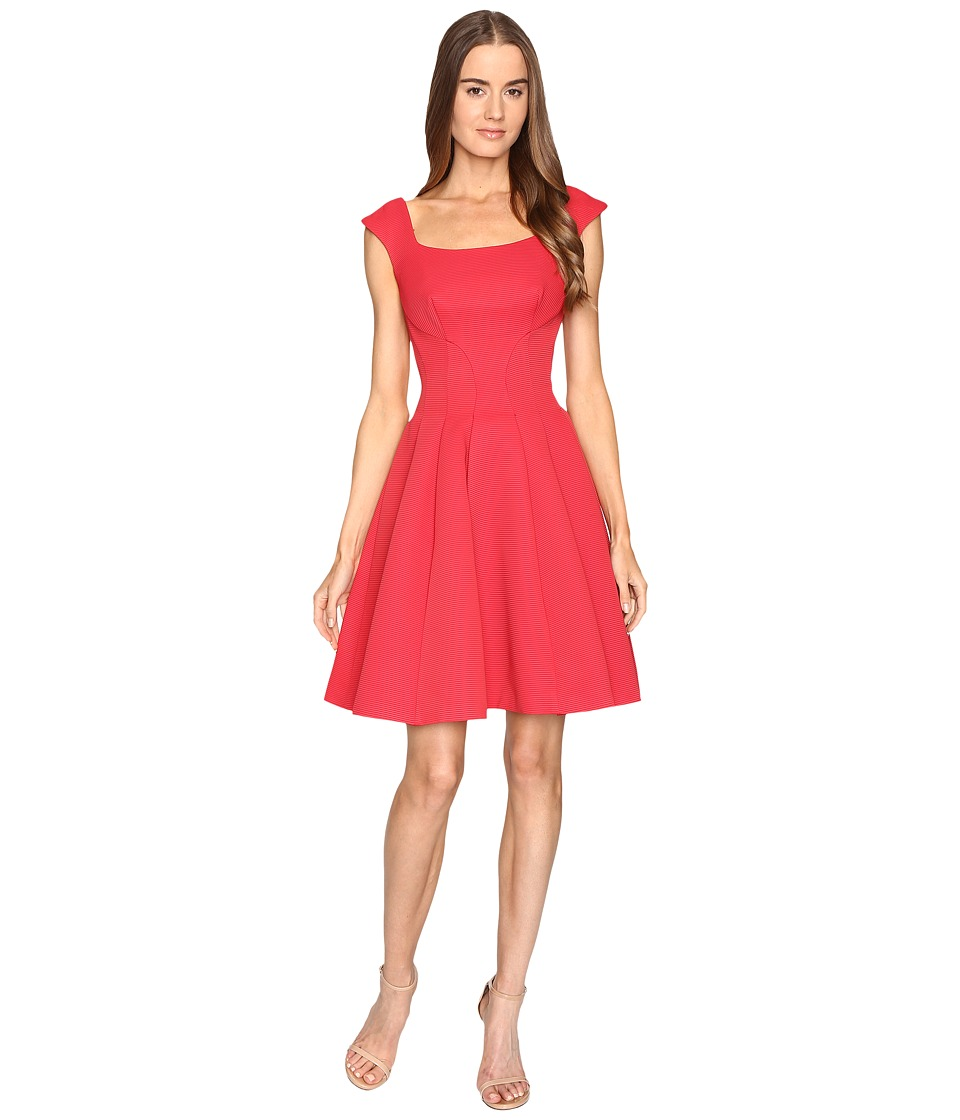 Zac Posen - Sleeveless Ottman Fit and Flare Dress (Cherry) Womens Dress