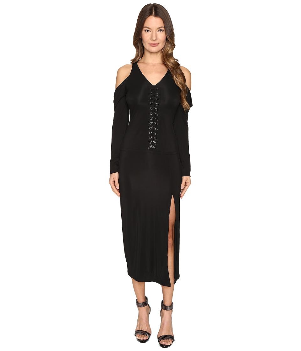 YIGAL AZROU  L - Lacing Detail Matt Jersey Dress
