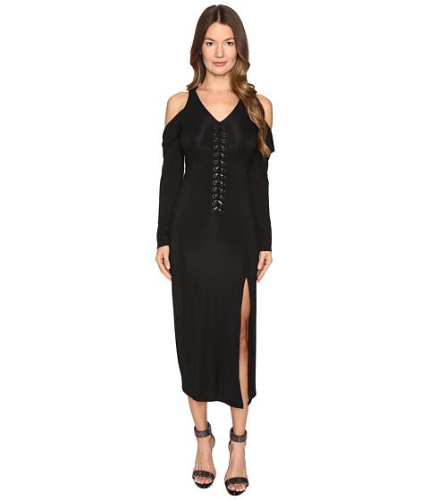 YIGAL AZROUËL Lacing Detail Matt Jersey Dress