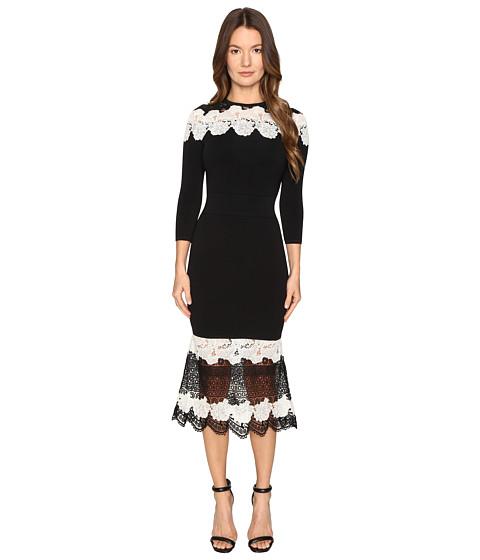 YIGAL AZROUËL Mod Lace Combo Knit Dress