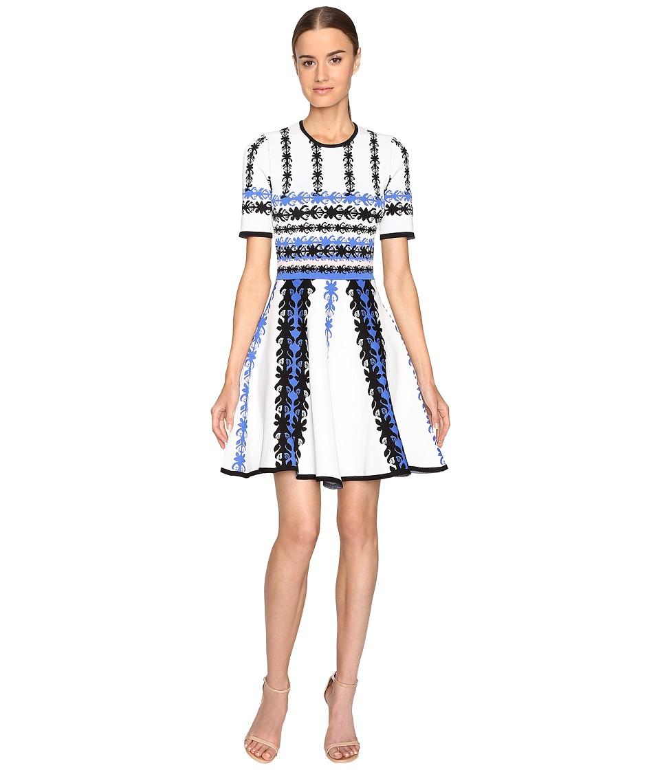 YIGAL AZROU  L - Jacquard Knit Fit and Flare Dress