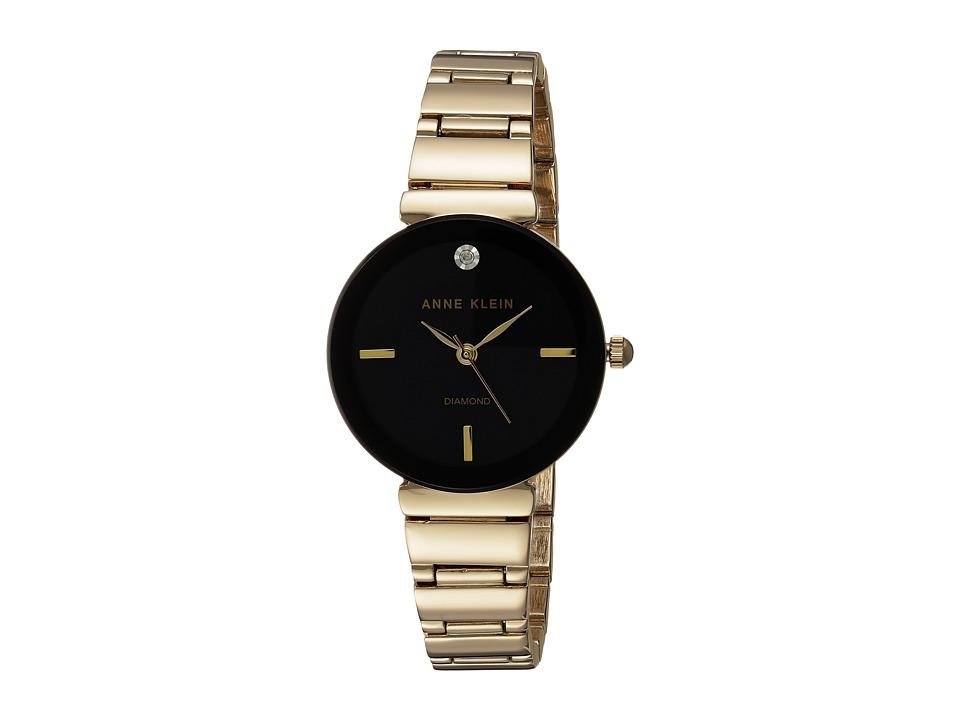 Anne Klein - AK-2434BKGB (Gold-Tone) Watches