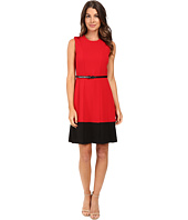 Calvin Klein - Fit & Flare Color Block Dress CD5X1441