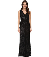 Calvin Klein - V-Neck Jersey Sequin Gown CD6B1X7E