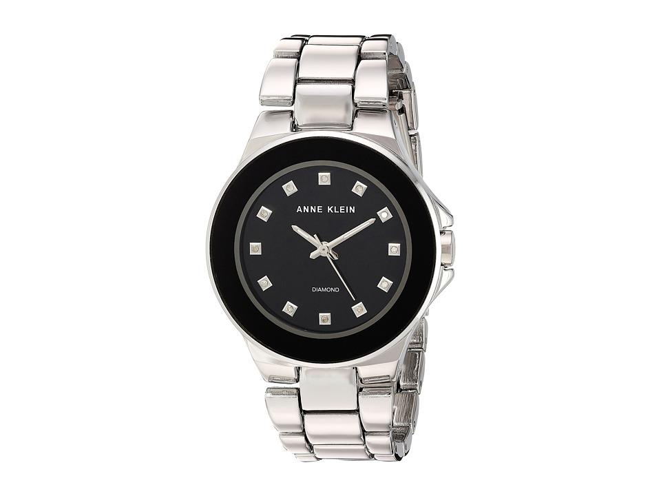 Anne Klein - AK-2755BKSV (Silver-Tone) Watches