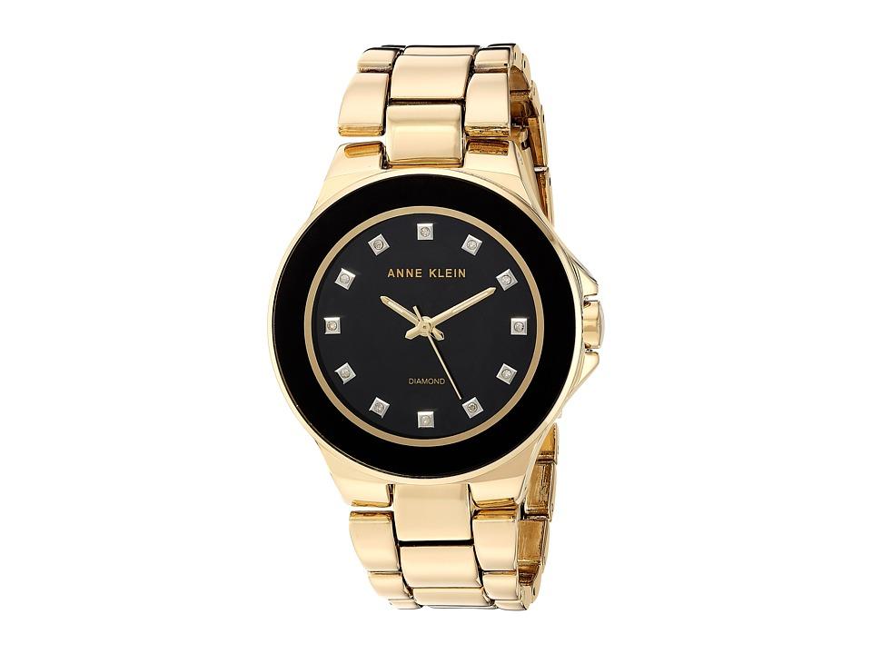 Anne Klein - AK-2754BKGB (Gold-Tone) Watches