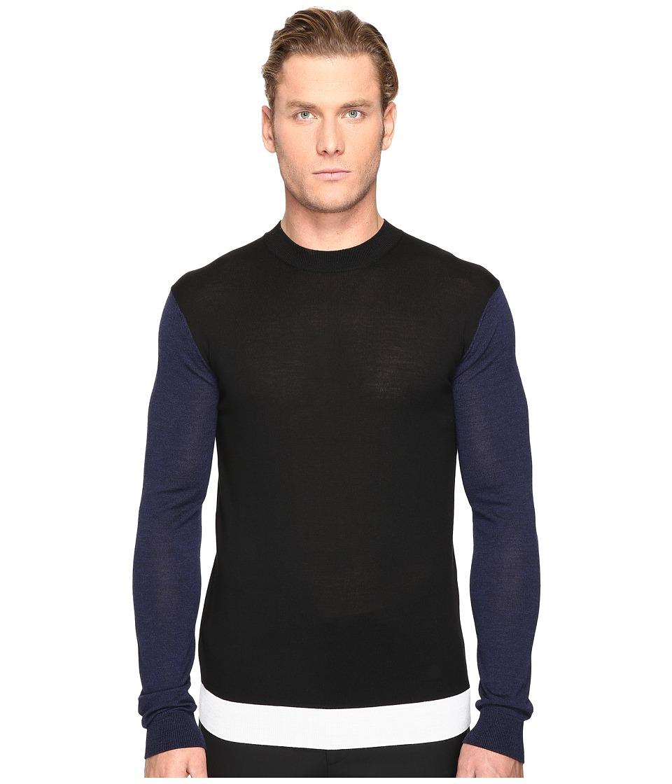 McQ - Color Block Crew Neck Sweater