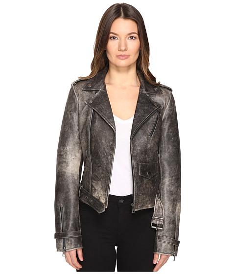Just Cavalli Leather Moto Hot Rod Jacket