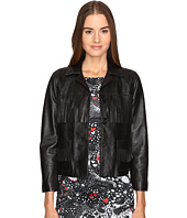 Just Cavalli - Fringe Leather Button Up Jacket