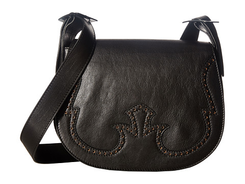 Just Cavalli Cow Leather with Holes Shoulder Bag