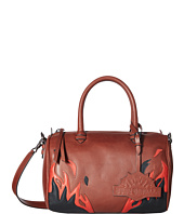 Just Cavalli - Calf Leather with Fires Crossbody