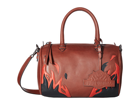 Just Cavalli Calf Leather with Fires Crossbody