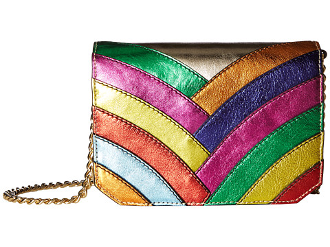 Just Cavalli Colored Laminated Leather Over the Shoulder Bag