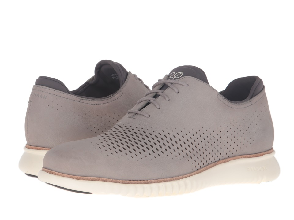 Cole Haan 2.0 Grand Laser Wing Oxford (Ironstone Nubuck/Ivory) Men