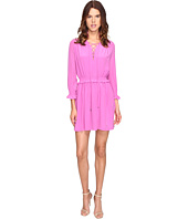 Just Cavalli - Long Sleeve Tie Neck Dress
