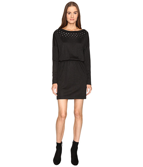 Just Cavalli Jersey Boat Neck Long Sleeve Dress