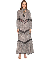 Just Cavalli - Long Sleeve Hide and Seek Sheer Inset Maxi