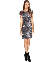 Just Cavalli - Short Sleeve Cat and Tails Printed Jersey Dress
