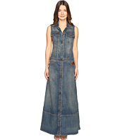 Just Cavalli - Sleeveless Button Front Denim Maxi Dress