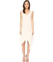 Just Cavalli - Sleeveless V-Neck Embroidered Handkerchief Hem Dress