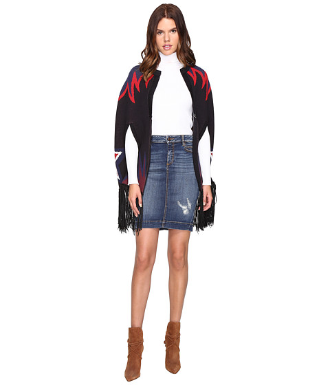 Just Cavalli Star and Flame Knit Cape