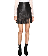 Just Cavalli - Fringe Leather Skirt