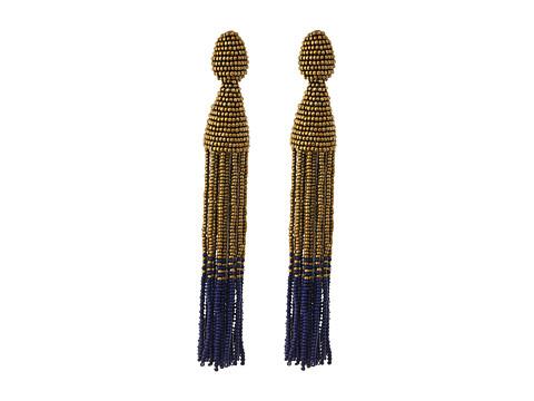 Oscar de la Renta Long Two Ombre Tassel C Earrings