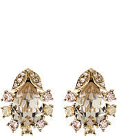 Oscar de la Renta - Tiered Crystal Button P Earrings