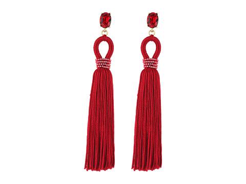Oscar de la Renta Long Silk Tassel C Earrings