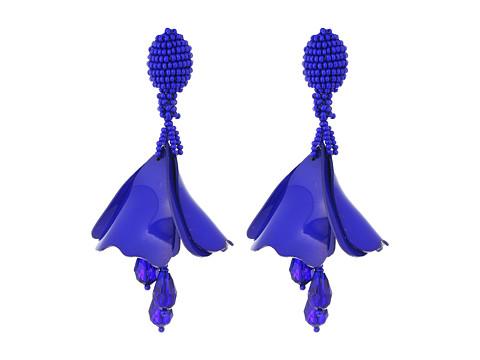 Oscar de la Renta Mini Impatiens Flower Drop C Earrings - Blue Violet