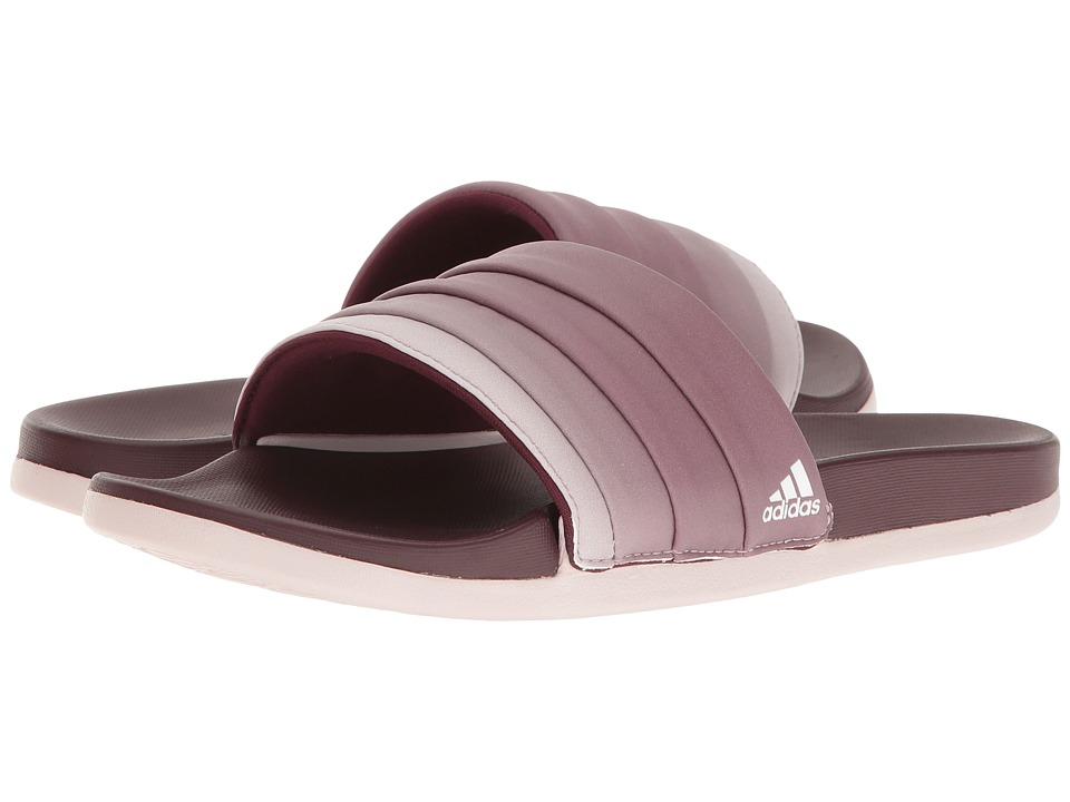 adidas - Adilette Cloudfoam Ultra Armad (Maroon/Collegiate Navy/Ice Purple) Womens Slide Shoes