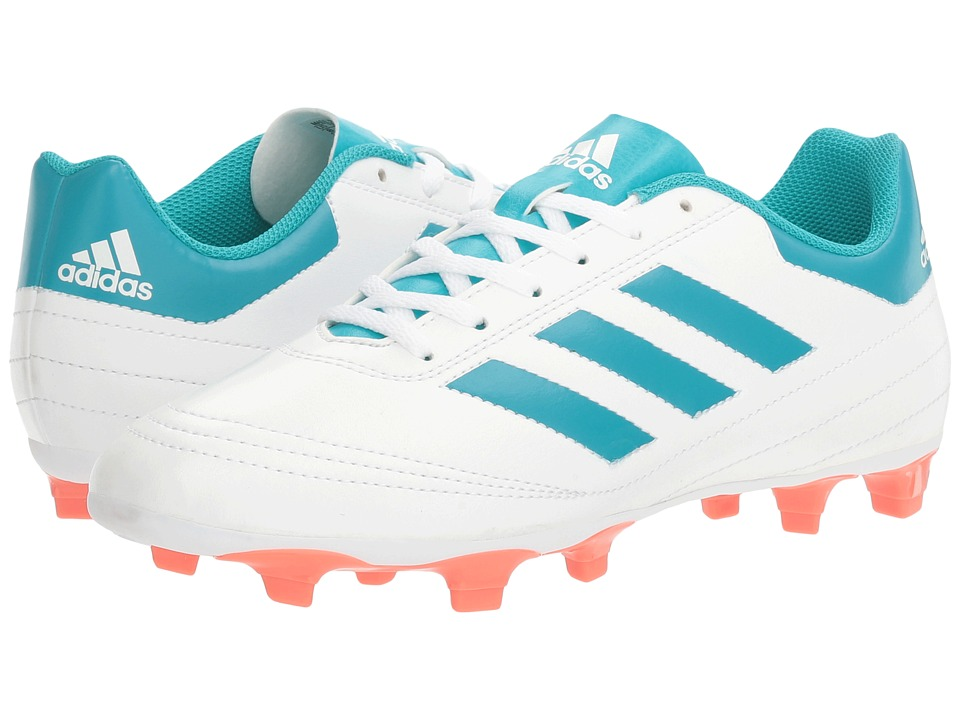 adidas - Goletto VI FG (White/Energy Blue/Easy Coral) Women's Soccer Shoes