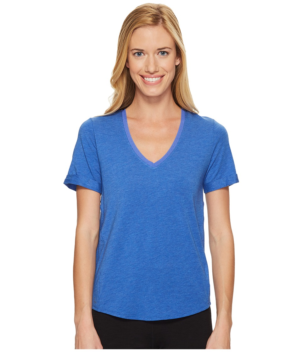 Lole Kesha Short Sleeve Top (Dazzling Blue Heather) Women