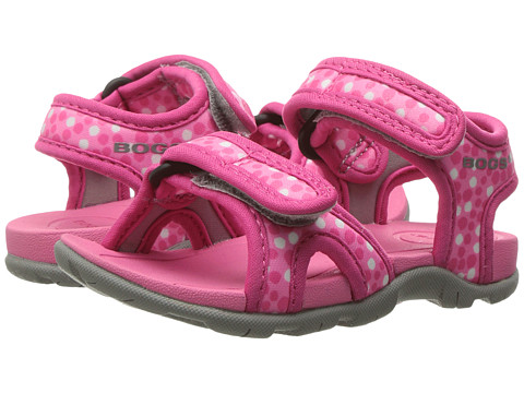 Bogs Kids Whitefish Dots Sandal (Toddler/Little Kid) - Pink Multi