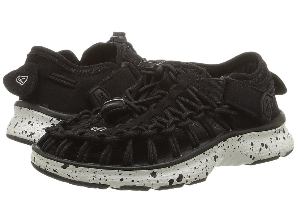 Keen Kids Uneek O2 (Toddler/Little Kid) (Black/White) Kid's Shoes