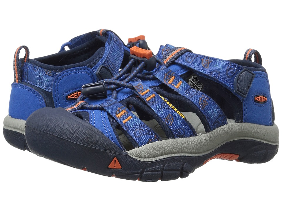 Keen Kids Newport H2 ToddlerLittle Kid Imperial BlueSharks Boys Shoes