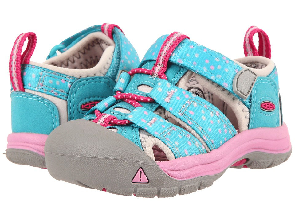 Keen Kids - Newport H2 (Toddler) (Viridian Dots) Girls Shoes