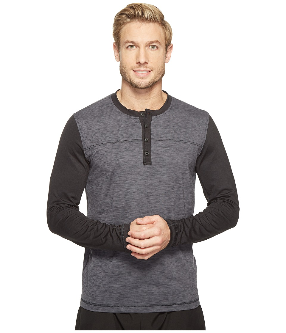 Prana Zylo Henley (Charcoal Color Block) Men