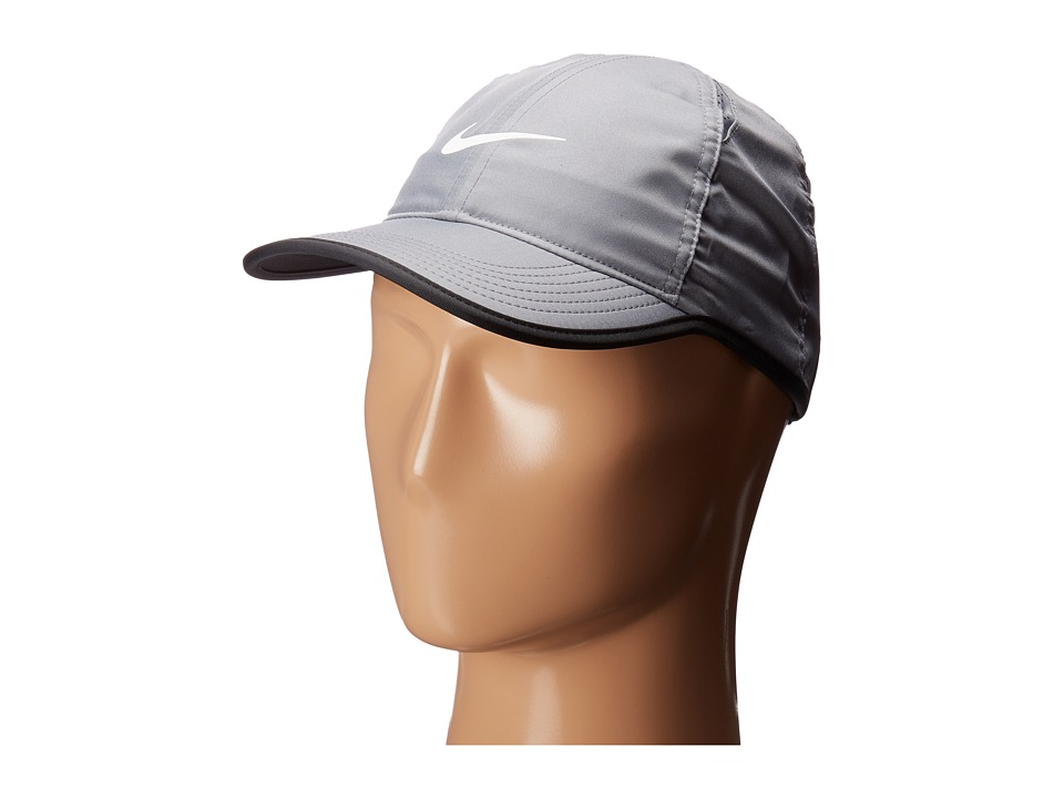 Nike - Featherlight (Little Kids/Big Kids) (Cool Grey/Black/White) Caps