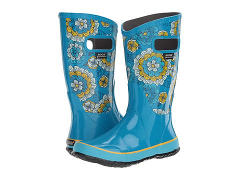 Bogs Kids Pansies Rain Boot (Toddler/Little Kid/Big Kid) - Sky Blue Multi