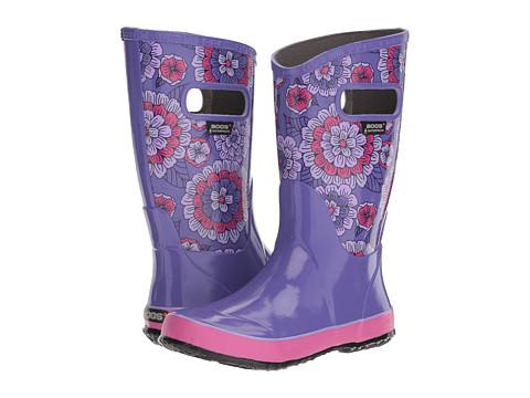 Bogs Kids Pansies Rain Boot (Toddler/Little Kid/Big Kid) - Violet Multi