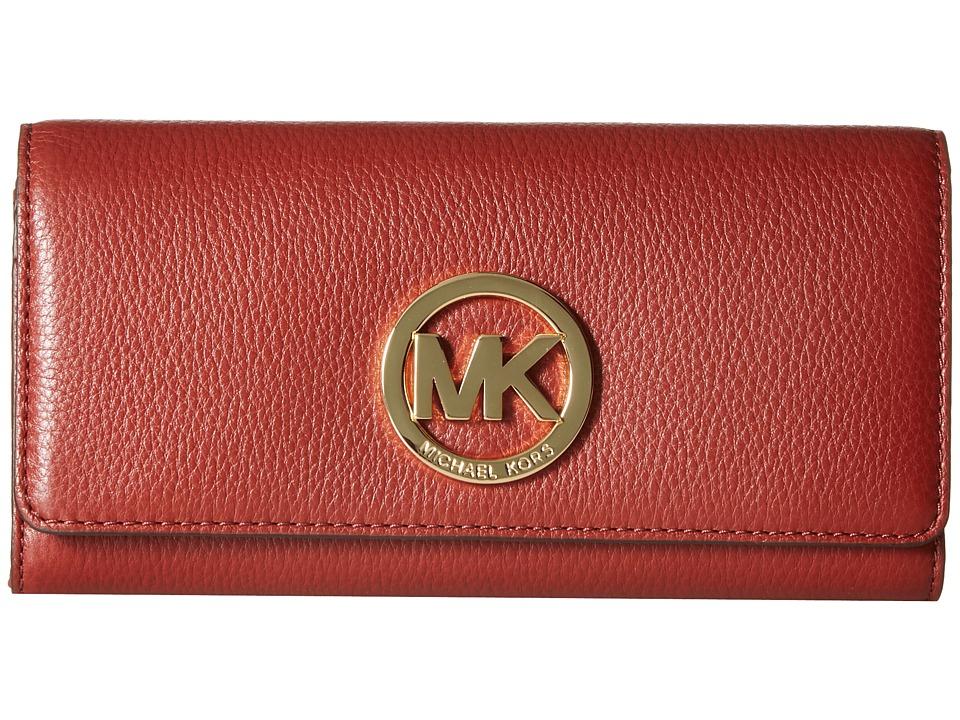 MICHAEL Michael Kors - Fulton Carryall (Brick) Clutch Handbags
