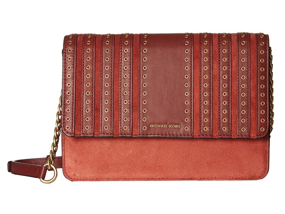 MICHAEL Michael Kors - Brooklyn Grommet Lg Crossbody (Brick) Cross Body Handbags
