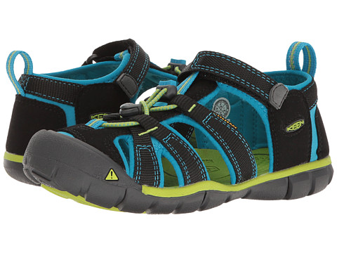 Keen Kids Seacamp II CNX (Little Kid/Big Kid) - Black/Blue Danube