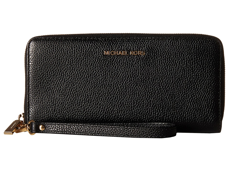 MICHAEL Michael Kors - Mercer Travel Continental (Black) Travel Pouch