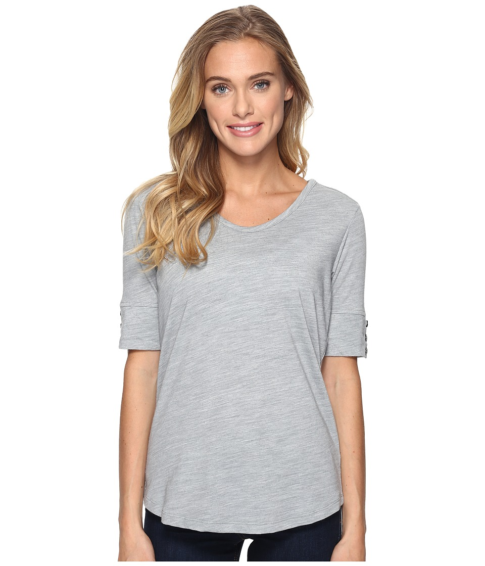 Royal Robbins Merinolux V-Neck Tee (Light Pewter) Women