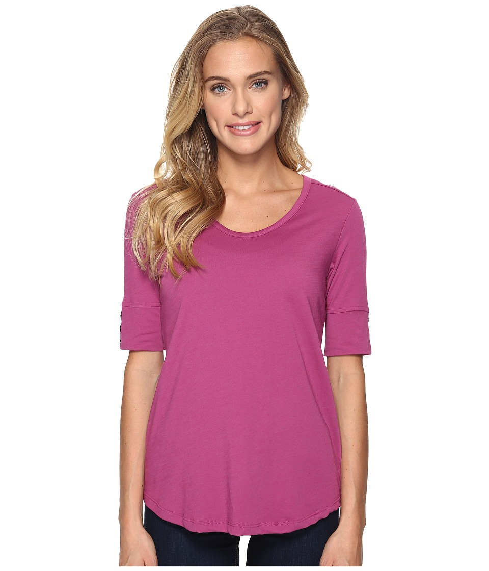Royal Robbins Merinolux V-Neck Tee (Aster) Women