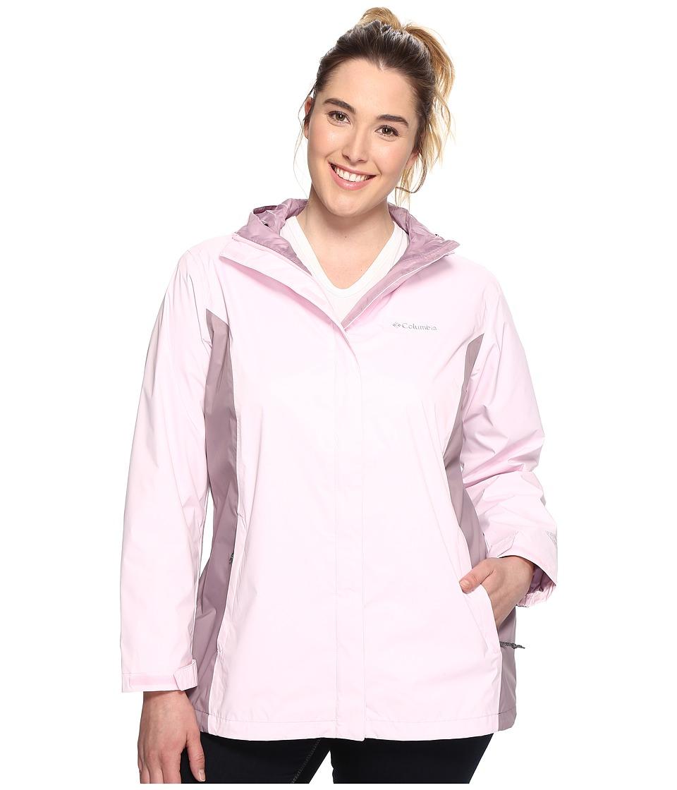 Columbia Plus Size Arcadia II Jacket (Whitened Pink/Sparrow) Women